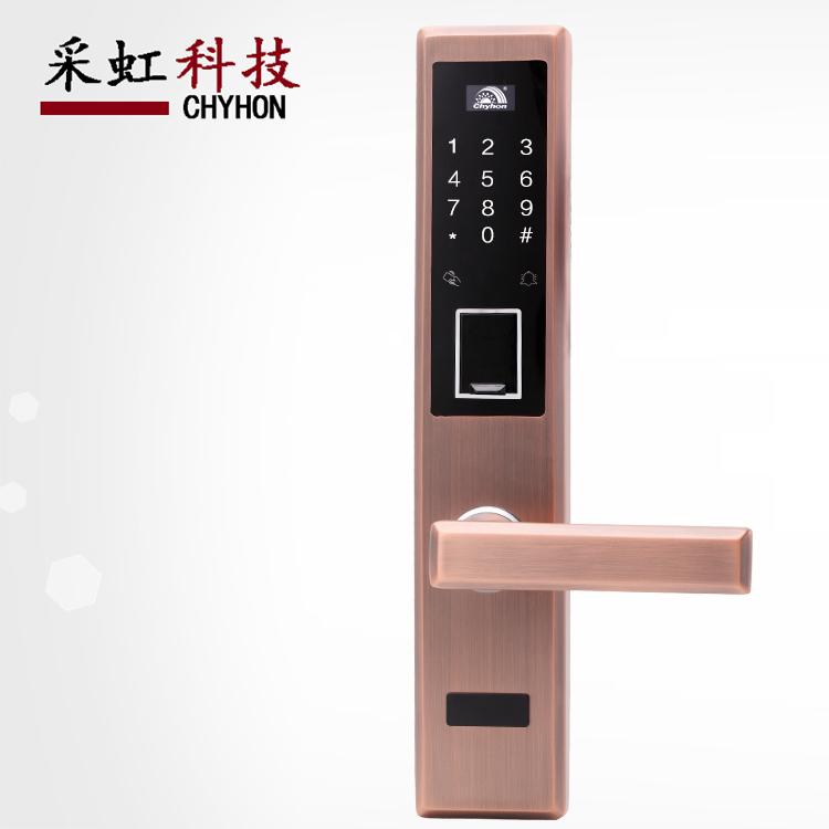 不锈钢指纹密码锁